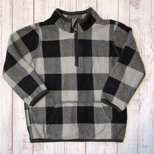Jumping Beans Fleece Pullover 18M Black Gray Plaid